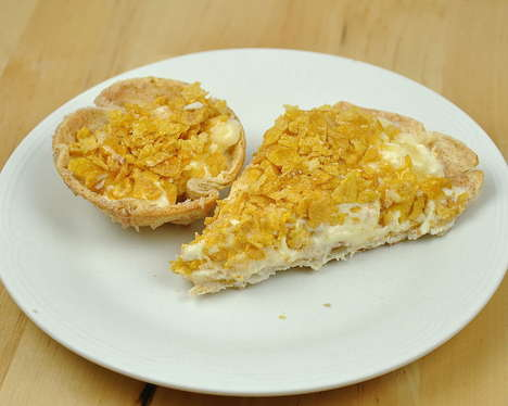 Cornflakes ice cream pie