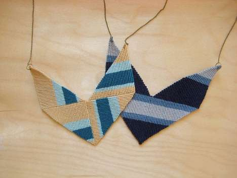 DIY Knotted Chevron Necklace