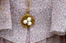 DIY Nest Necklaces - Create an Avian-Inspired Accessory with this 'Sincerely, Kinsey' Tutorial