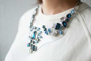 The 'a pair and a spare' DIY Rhinestone Necklace is Chic