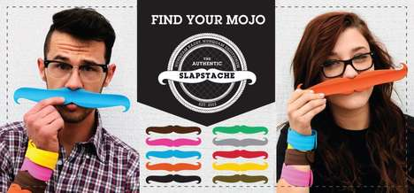 Mustache Shaped Slap Braclet