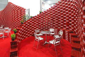 The Upcycling Pavilion by BNKR Arquitectura Uses 5,000 Coca-Cola Cases