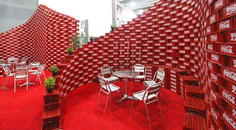 Coke Crate Installations - The Upcycling Pavilion by BNKR Arquitectura Uses 5,000 Coca-Cola Cases