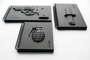 Yiweishen's Weapon-Inspired Notebooks Hopes to Transform Violence to Peace