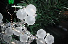 Beaded Snow Ornaments
