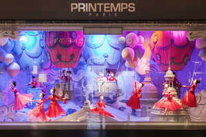 Printemps Christmas Windows Bring Luxe to the Holidays with Dior