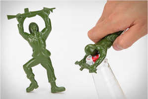 Pry Open Bottles Easily with the Army Man Bottle Opener