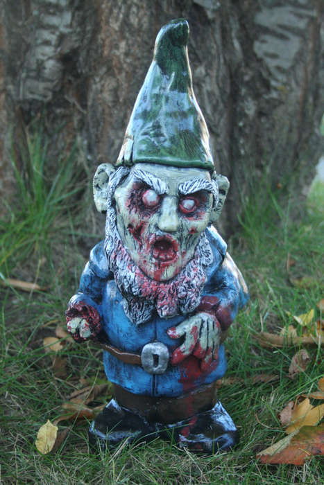 Undead Garden Decor - The Zombie Lawn Gnome is Terrifying Addition to One