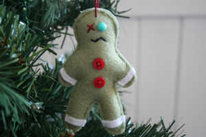 The Zombie Gingerbread Man Christmas Ornament is Adorable
