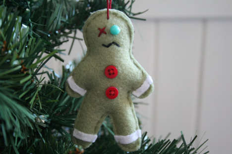 Undead Cookie Ornaments - The Zombie Gingerbread Man Christmas Ornament is Adorable