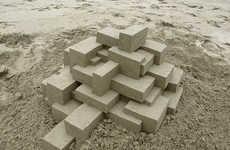 Geometric Sand Castles - Sculptor Calvin Seibert Creates Modern Beach Artworks