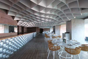 V'ammos Restaurant by LM Architects is Structurally Hypnotic