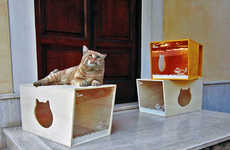 Modular Kitty Boxes - The Qcha Cat House is Aesthetically-Pleasing for the Home