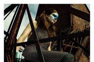 The i-D Magazine Winter 2012 Editorial Stars a Battle-Ready Kendra Spears