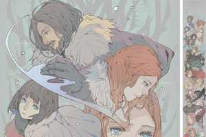 Game of Thrones Anime Scroll Depicts the Cast in the Japanese Art Form