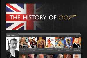 History of James Bond Infographic Details His Many Manifestations