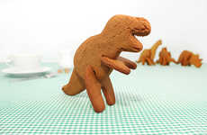 Prehistoric Cookie Cutters - These 3D Dinosaur Cookie Cutters Bring Desserts to Life