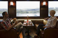 The Passenger Restaurant Re-Creates a Locomotive Environment