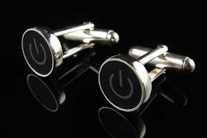The Power Button Cuff Links Remind People to Power Down and Relax