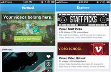 Revamped Video-Sharing Apps - The New Vimeo iPhone App Makes Uploading On The Go Easier