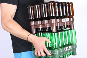 The FastRack Provides a Simple Way to Carrying Your Beer Bottles