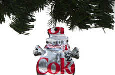Recycled Pop Can Ornaments - The Eco-Friendly Coke & Diet Pepsi Snowman Christmas Ornaments are Cute