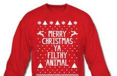 Rude Christmas Greeting Shirts - The Home Alone Holiday Sweater Quotes the Gangster in the Film