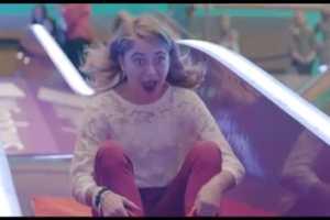 Microsoft Installs Giant Slide in UK Mall for Windows 8 Commercial