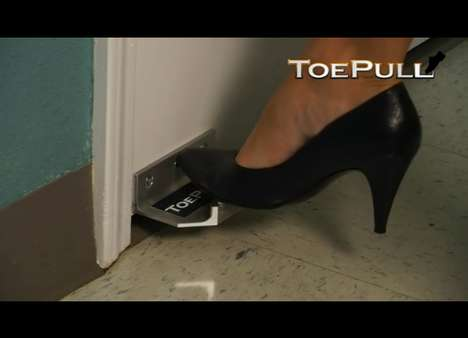 Bathroom Door Toe Opener