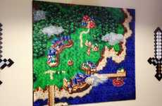 The Chrono Trigger Wall Art is Made Out of 47,096 Crafting Beads