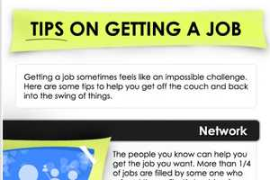 The 'Tips on Getting a Job' Graphic Follows 7 Key Points