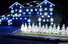 Viral Song Light Shows - Share the Love for the Holidays with Christmas Lights Gangnam Style