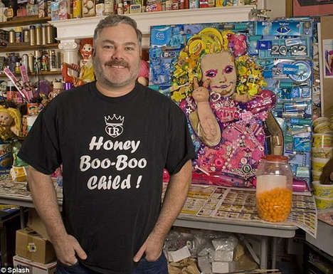 Trash Pageant Portraits - The Honey Boo Boo Portrait Demonstrates You Are What You Eat