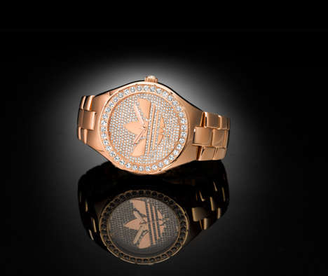 Festive Stone-Encrusted Timepieces - Turn Heads While Wearing the Bejeweled Melbourne Time
