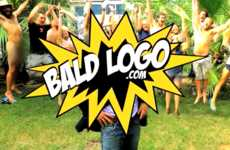 Bald-Headed Ad Space - Bald Logo Sells the Headspace of Bald Men to Companies for Ad Placement