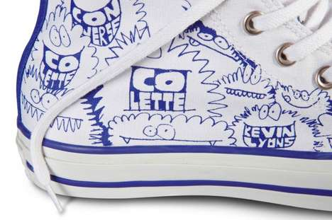 Graphic Parisian Kicks - The Kevin Lyons Chuck Taylor Sneaker Collection is Chic