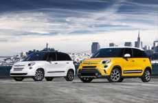 Family-Friendly Italian Micro Cars - The Fiat 500L Comfortably Seats Five in Style