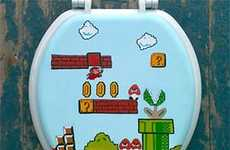 Nostalgic Gamer Lavatory Covers - The Nintendo Toilet Seat Makes Mario a Part of Your Bathroom