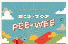 Retro Film Tribute Posters - The Big Top Pee-Wee Posters Pay Homage to the Beloved Family Classic