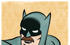 Superhero Mustache Illustrations - Superstaches Were Created by Wes Montgomery