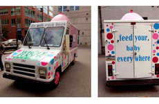 Mobile Breast Feeding Stations - The Milk Truck Provides a Private Breast Feeding Sanctuary for Moms