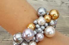 DIY Clustered Pearl Bracelets