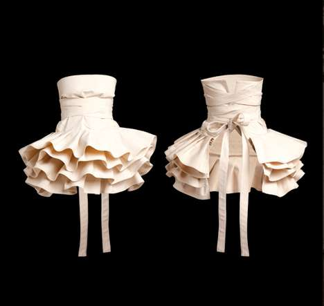 Sculpted Ballerina Aprons - The Apron Lukrecja by COOKie Adds Artistic Flair to Kitchen Encounters