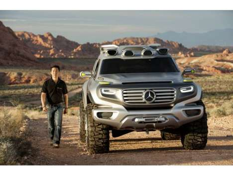Electric Police Cruisers - Mercedes Unveils Energ-G-Force Concept Car at the LA Auto Show