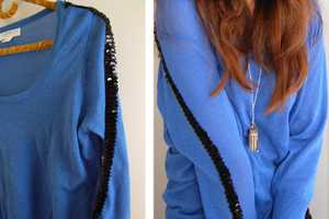 The Sequined Sweater DIY Adds Spunk to One's Traditional Garment