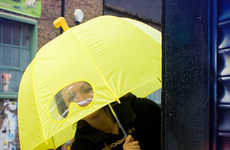 Peeping Rain Protectors - The Submarine Umbrellas Let Users Indulge in a Little Practical Fantasy