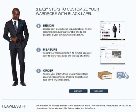Custom Online Tailoring - The Black Lapel Retailers Take Measurements on the Web