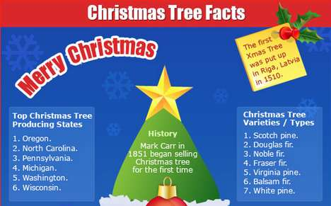 Holiday Tree Infographics - This Chart Provides Interesting Historical Christmas Tree Info