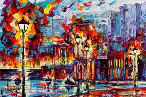Micko-Vic's Acrylic Paintings are Vibrant Scenes