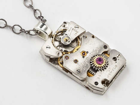 Steampunk Elgin Watch Necklace
